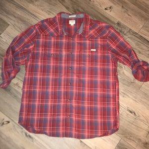 Lucky Brand Snap Down Long Sleeve Plaid Shirt